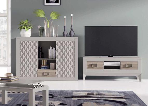 Muebles salon wengue y blanco 20170802050307 for Muebles salon color wengue
